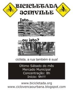 Participe da Bicicletada!